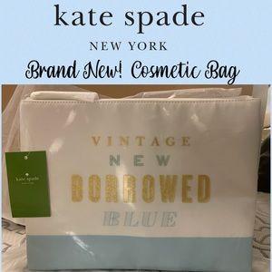 Kate Spade Vintage New Borrowed Blue Cosmetic Bag